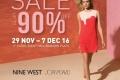 งาน Amarin Brand Sale Nine West Sale Up To 90% สินค้าแฟชั่น แบรนด์ดังระดับโลก ลดสูงสุด 90% ที่ อัมรินทร์ พลาซ่า วันที่ 29 พ.ย. - 7 ธ.ค. 2559