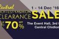 เซ็นทรัล ชิดลม จัดงาน CENTRAL HOTTEST FASHION CLEARANCE SALE สินค้าแฟชั่น ลดสูงสุด 70% วันนี้ ถึง 14 ธันวาคม 2559