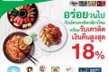 สิทธิพิเศษ บัตรเครดิต กสิกรไทย KBANK รับเครดิตเงินคืน สูงสุด 18% ที่ ร้านอาหาร ที่ร่วมรายการ วันนี้ ถึง 31 พฤษภาคม 2560