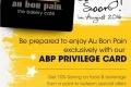 ราคา บัตรสมาชิก โอ บอง แปง พร้อมสิทธิพิเศษ Au Bon Pain : Privilege Card เริ่มจำหน่าย 12 สิงหาคม 2559