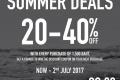 โปรโมชั่น CC DOUBLE O SUMMER DEALS ลุ้นรับคูปอง ลดสูงสุด 40% เมื่อซื้อครบ 1,500 บาท วันนี้ ถึง 2 กรกฎาคม 2560