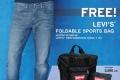 โปรโมชั่น Levi's รับฟรี กระเป๋า Levi's Foldable Sport Bag มูลค่า 2,590 บาท เมื่อซื้อ กางเกงยีนส์ LEVI'S® PERFORMANCE COOL และรับส่วนลดพิเศษ ที่ ลีวายส์ ทุกสาขา วันนี้ ถึง 6 กรกฎาคม 2560