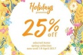 โปรโมชั่น Lyn Around Holiday Promotion ลด 25% สำหรับเสื้อผ้าและชุดว่ายน้ำคอลเลคชั่น Pre-Spring และ Spring 2017 วันนี้ ถึง 19 เมษายน 2560