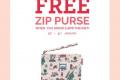 โปรโมชั่น Cath Kidston GIFT FOR YOU  รับฟรี Zip Purse เมื่อซื้อครบกำหนด ที่ แคท คิดสตัน วันนี้ ถึง 31 มกราคม 2561