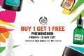 โปรโมชั่น The Body Shop BUY 1 GET 1 PHENOMENON สินค้า ซื้อ 1 แถม 1 ฟรี ที่ เดอะ บอดี้ ช็อป วันนี้ ถึง 31 พฤษภาคม 2560