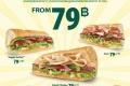 โปรโมชั่น ซับเวย์  EAT RIGHT, FEEL LIGHT. แซนวิช ราคาพิเศษ เริ่มต้นเพียง 79 บาท ทุกวัน ที่ SUBWAY วันนี้ ถึง 30 พฤษภาคม 2560