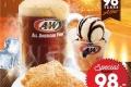 โปรโมชั่น A&W ชุด Super Save Set ราคาเพียง 98 บาท และ Cookies Cream Charcoal Waffle คุ้กกี้ครีม ชาร์โคล วาฟเฟิล ที่ เอแอนด์ดับบลิว วันนี้ ถึง 30 กันยายน 2560
