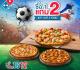 โปรโมชั่น โดมิโน่ พิซซ่า ซื้อ 1 แถม 2 ฟรี ซื้อถาดใหญ่ แถมถาดกลางและเล็ก ที่ Domino's Pizza วันนี้ ถึง 15 กรกฎาคม 2561
