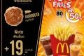 โปรโมชั่น แมคโดนัลด์ อร่อยยกเซต เฟรนช์ฟรายส์ ลดราคา 50% ที่ Mcdonald's วันนี้ ถึง 30 เมษายน 2560