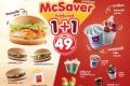 โปรโมชั่น แมคโดนัลด์ แมคเซฟเวอร์ จับคู่ คุ้มเว่อร์ 1 + 1 เพียง 49 บาท และ รวมทุกโปรโมชั่น สำหรับ ทานที่ร้าน ที่ McDonald's วันนี้