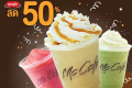 โปรโมชั่น แมคคาเฟ่ เครื่องดื่ม เมนูปั่น ลดราคา 50% ที่ McCafe วันนี้ ถึง 31 มีนาคม 2561