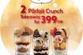 โปรโมชั่น ฮาเก้น-ดาส ซื้อ ไอศกรีม Parfait Crunch 2 ถ้วย แบบ Takeaway ราคาพิเศษ 399 บาท ที่ Haagen-Dazs วันนี้ ถึง 31 มกราคม 2561 และ โปรโมชั่นอื่นๆ