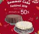 โปรโมชั่น กาโตว์ เฮ้าส์ Summer Cake Festival 2018 ซื้อเค้กก้อนที่ 2 ลด 50% ที่ Gateaux House วันนี้ ถึง 6 พฤษภาคม 2561