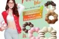 โปรโมชั่น มิสเตอร์ โดนัท พอน เดอ ริง ไลท์ สูตรใหม่ ที่มีส่วนผสมใยอาหาร ที่ Mister Donut และ อร่อยเป็นคู่ กับเมนูเครื่องดื่มเย็น ซื้อ โดนัท No.1 เพียงชิ้นละ 1 บาท เฉพาะวันศุกร์ 14.00 น. ตลอดเดือนสิงหาคม 2560