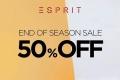 โปรโมชั่น ESPRIT End of Season Sale 50% off ลดสูงสุด 50% ที่ร้าน เอสปรี สาขาที่ร่วมรายการ วันนี้ - 31 มกราคม 2560