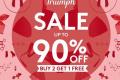 โปรโมชั่น ชุดชั้นใน ไทรอัมพ์ Triumph ลดสูงสุด 90% และ ซื้อ 2 แถม 1 ฟรี ที่ ไทรอัมพ์ ช้อป สาขาที่ร่วมรายการ วันนี้ ถึง 11 มีนาคม 2561
