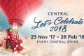 โปรโมชั่น Central Let's Celebrate 2018 สะสมสติ๊กเกอร์แลกรับส่วนลดสูงสุด 40% ที่ เซ็นทรัล และ เซน วันที่ 23 พ.ย. 2560 - 28 ก.พ. 2561