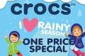 โปรโมชั่น Crocs I Love Rainy Season สินค้า One Price Special ราคาพิเศษ ที่ ซูเปอร์สปอร์ต วันินี้ ถึง 4 มิถุนายน 2560