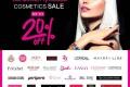 โปรโมชั่น วัตสัน Cosmetics Sale กลุ่มผลิตภัณฑ์เครื่องสำอางค์ ลดสูงสุด 20% ที่ Watsons วันนี้ - 2 มกราคม 2560