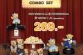 โปรโมชั่น ชุด ป๊อปคอร์น Teddy House Combo Set และ Doraemon Combo Set ที่ โรงภาพยนตร์ในเครือ SF