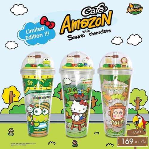 โปรโมชั่น แก้ว คาเฟ่ อเมซอล แก้ว Café Amazon x Sanrio