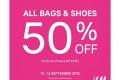 โปรโมชั่น H&M รองเท้า และ กระเป๋า ลดราคา 50% วันนี้ ถึง 19 กันยายน 2561