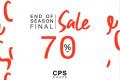โปรโมชั่น CPS CHAPS End of Final Sale 70% สินค้า ลดสูงสุด 70% วันนี้ ถึง 2 มกราคม 2563