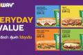 โปรโมชั่น ซับเวย์ Everryday Value ชุดสุดคุ้ม ราคาเริ่มต้น 110 บาท ที่ SUBWAY วันนี้ ถึง 31 ตุลาคม 2561