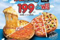 โปรโมชั่น โดมิโน่ พิซซ่า ถาดใหญ่ ถาดละ 199 บาท เมื่อซื้อ 2 ถาดขึ้นไป และ โปรโดมิโน่พิซซ่า อื่นๆ ที่ Domino's Pizza วันนี้
