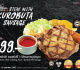 โปรโมชั่น ซานตาเฟ่ สเต็ก Steak with Kurobuta Sausage เริ่มต้นเพียง 79 บาท และ คอมโบ Combo Steak ลดราคา 20% ที่ Santa Fe' Steak วันนี้ ถึง 15 มกราคม 2562