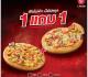 โปรโมชั่น พิซซ่าฮัท พิซซ่า ซื้อ 1 แถม 1 ฟรี ทุกหน้า และ ฮัท ดับเบิ้ล โหด ที่ Pizza Hut วันนี้