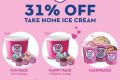 โปรโมชั่น บาสกิ้น ร็อบบิ้นส์ Baskin-Robbins ลดทันที 31% เมื่อซื้อไอศกรีม Handpack ทุกวันที่ 31 ของเดือน ตลอดปี 2563
