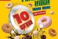 โปรโมชั่น มิสเตอร์ โดนัท ใจป๋า มาใหม่ โดนัท 10 บาท 10 แบบ และ พาวเวอร์ ริง และ โปรโมชั่นอื่นๆ ที่ Mister Donut วันนี้