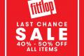 โปรโมชั่น Fitflop LAST CHANCE SALE รองเท้า ลดราคา 40% - 50% วันนี้ ถึง 6 ธันวาคม 2561